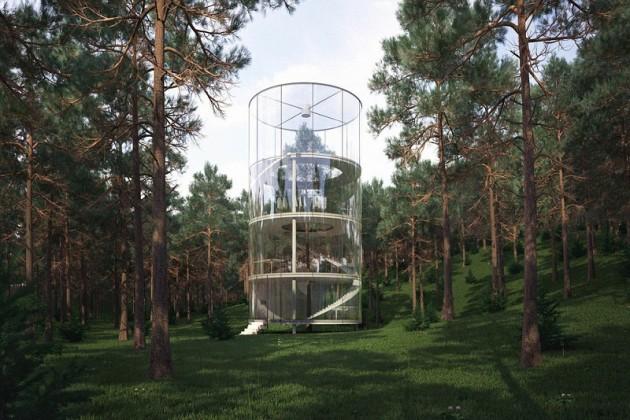 Стеклянный дом в горах Алматы не привлек инвесторов