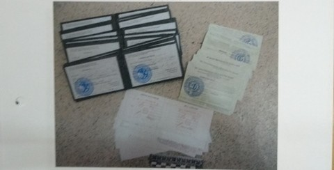 ВАлматы работал мини-цех поизготовлению поддельных документов