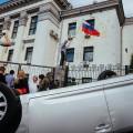 В Киеве напали на посольство России