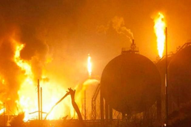 Пожар цистерн с нефтью локализован