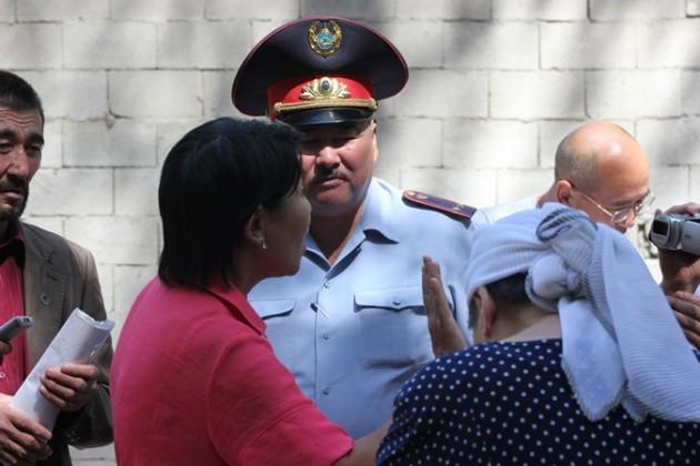 На окраине Алматы прошла акция протеста