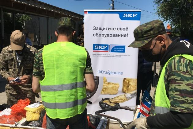 В Алматы уничтожена партия контрафактных подшипников