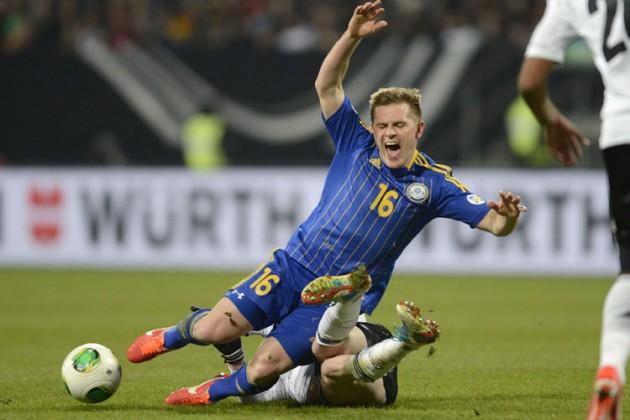 Сборная Казахстана впервые забила в ворота Германии