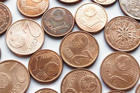 Европа лишится 1 и 2 евроцентов