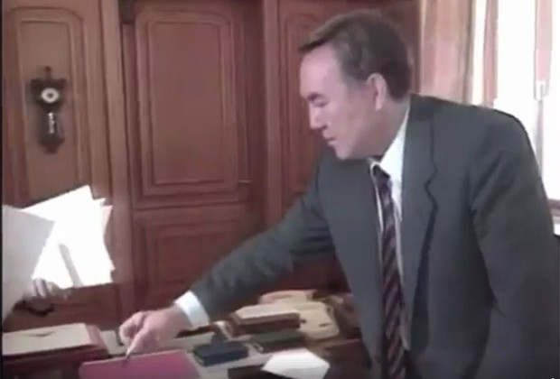 Акорда опубликовала архивное видео cпрезидентом