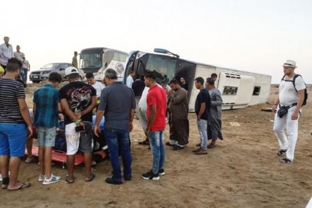 Автобус сказахстанскими туристами перевернулся вЕгипте