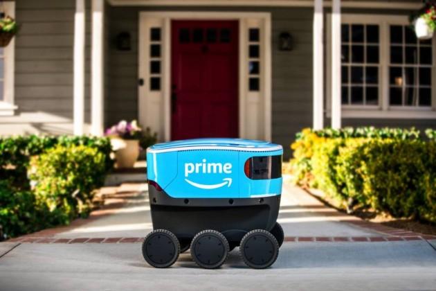 Amazon начал тестировать беспилотного робота-курьера