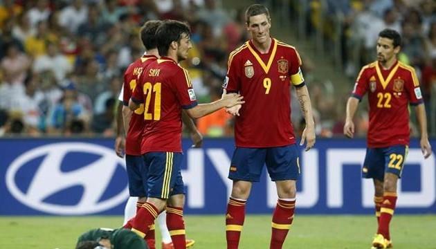 Испанцы забили 10 голов в ворота Таити