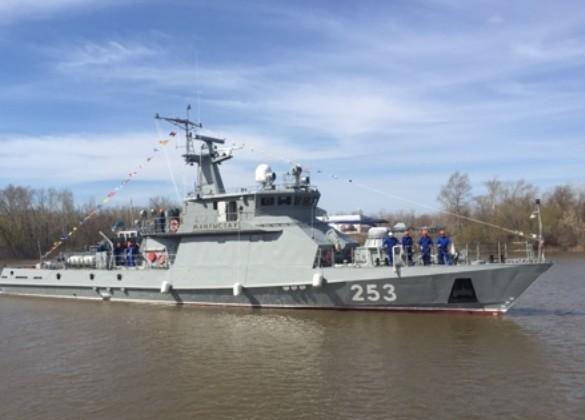 ВУральске спустили наводу военный корабль Мангыстау