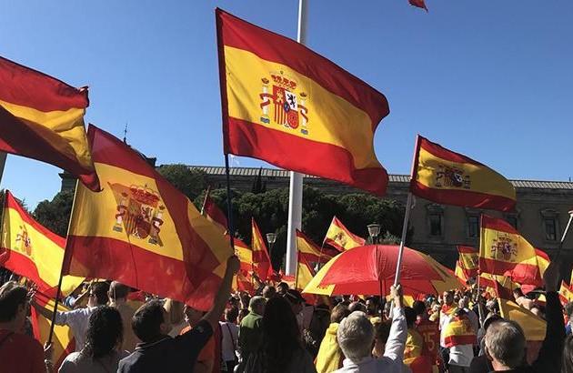 ВБарселоне прошел митинг заединство Испании