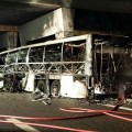 Под Вероной сгорел автобус сошкольниками