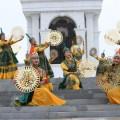 Праздничное шествие областей Казахстана состоялось в Астане