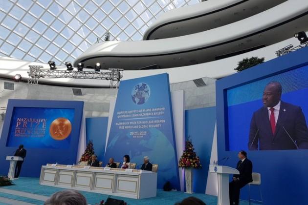Юкия Амано и Лассина Зербо получили премию от Казахстана