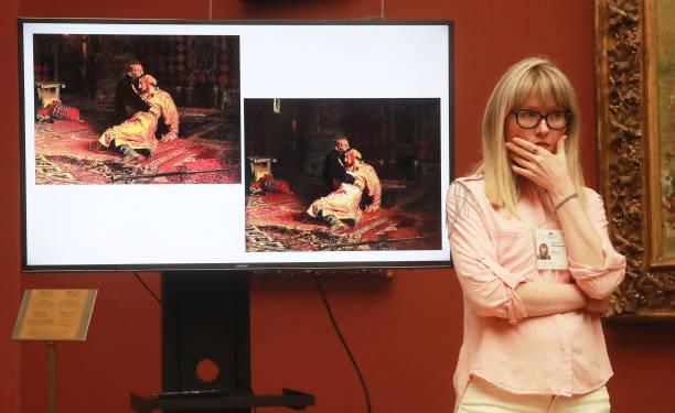 ВТретьяковке рассказали оповрежденной вандалом картине Репина