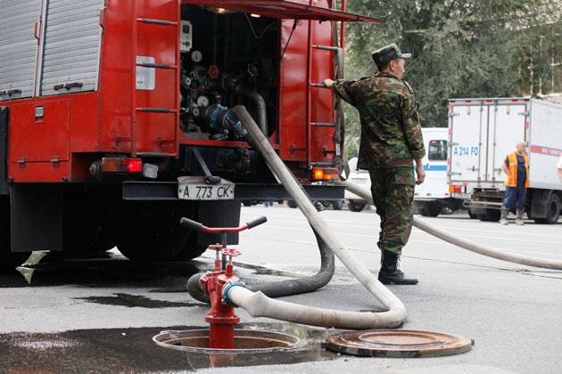 Пожар в Алматы обошелся без жертв