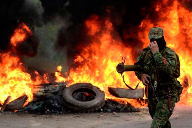 Армия Украины бомбит ополченцев баллистическими ракетами