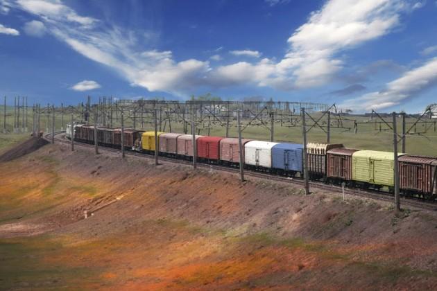 Из Кореи в РК отправили контейнерный поезд