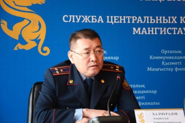 Амангелды Халмурадов отчитался о работе местной полиции