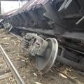 В Актюбинской области сошли с рельсов 20 вагонов