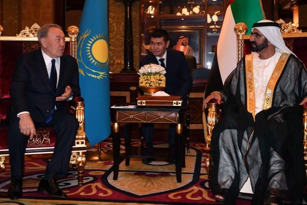 Президент Казахстана встретился сэмиром Дубая