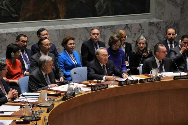 Совбез ООН поддержал инициативу президента Казахстана