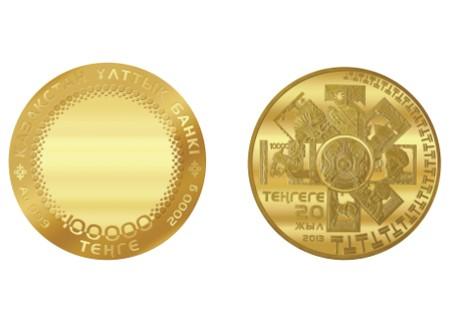 В РК выпускают монету номиналом 100 тыс. тенге