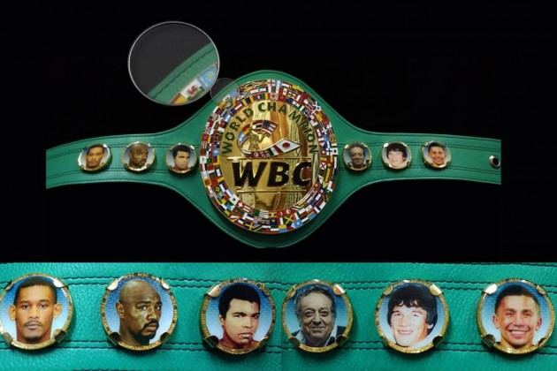Флаг Казахстана ифото Геннадия Головкина появились начемпионском поясе WBC