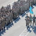 Военный мини-марш прошел в Семее