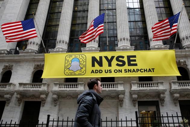 Акции Snap закрылись падением на12%