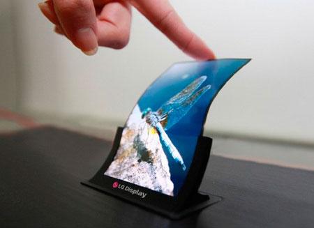 LG представит гибкий экран