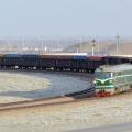 Регулярный контейнерный поезд из порта Ляньюньган прибыл в Алматы