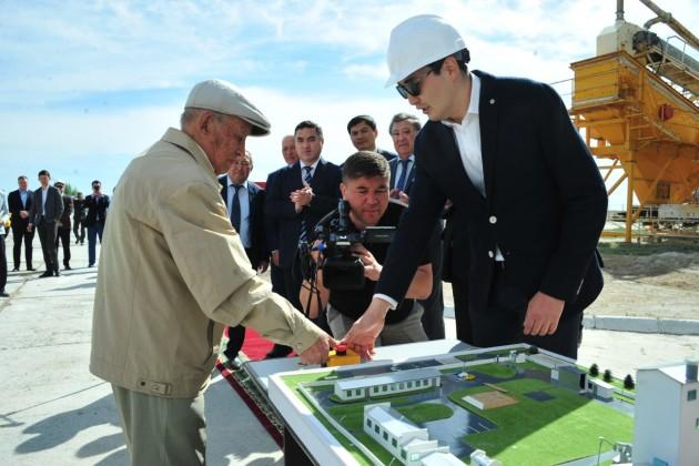 В Атырауской области запустили производство строительных смесей