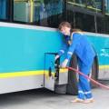 Автопарк Алматы пополнился автобусами на газе
