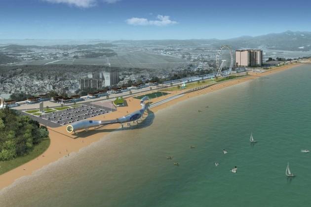 Пляж Актау разделят на три зоны