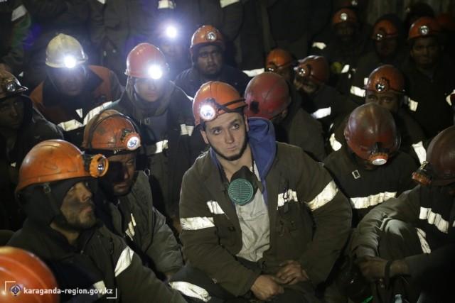 Около 700 шахтеров бастуют вКарагандинской области