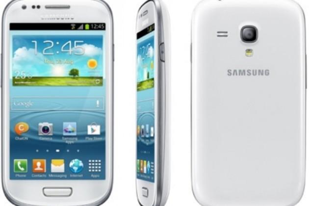 Показана уменьшенная копия Galaxy S III