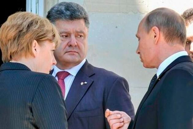 Путин и Порошенко встретились в Нормандии