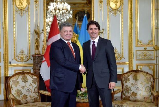 Президент Украины и премьер Канады проводят переговоры