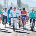 Алматинцы отметили День Конституции велопробегом