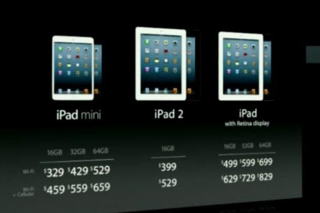 Представлен iPad mini