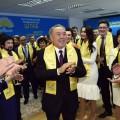 Президент поздравил однопартийцев с победой
