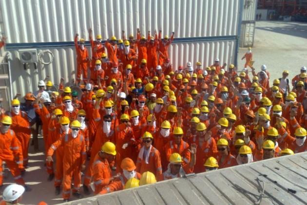 На объектах Кашагана бастуют рабочие