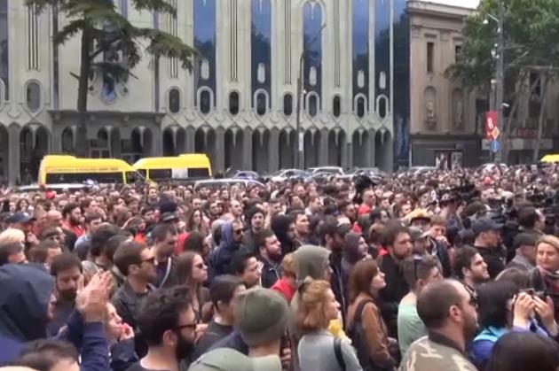 ВТбилиси проходят акции протеста