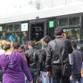 Чиновники Алматы пересели на автобусы