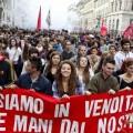 Итальянские студенты протестуют против правительства