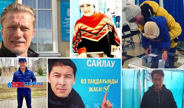 Соцсети заполнили селфи с выборов в Казахстане