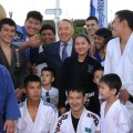 Президент посетил обновленный центральный парк Астаны