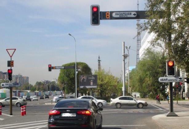 Светофоры в Алматы будут адаптироваться под ситуацию на дорогах