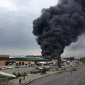 Пожар произошел на рынке в Алматы