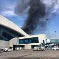 В районе аэропорта Алматы вспыхнул пожар
